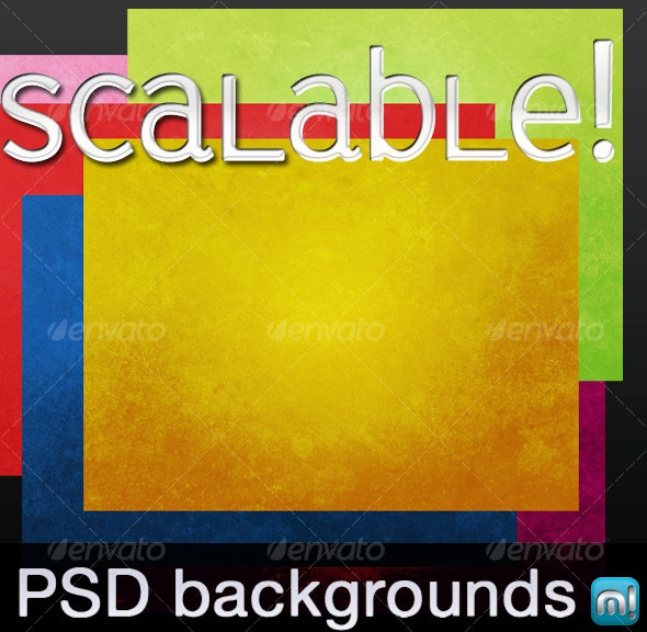 6 scalable, textured PSD backgrounds - Backgrounds Graphics