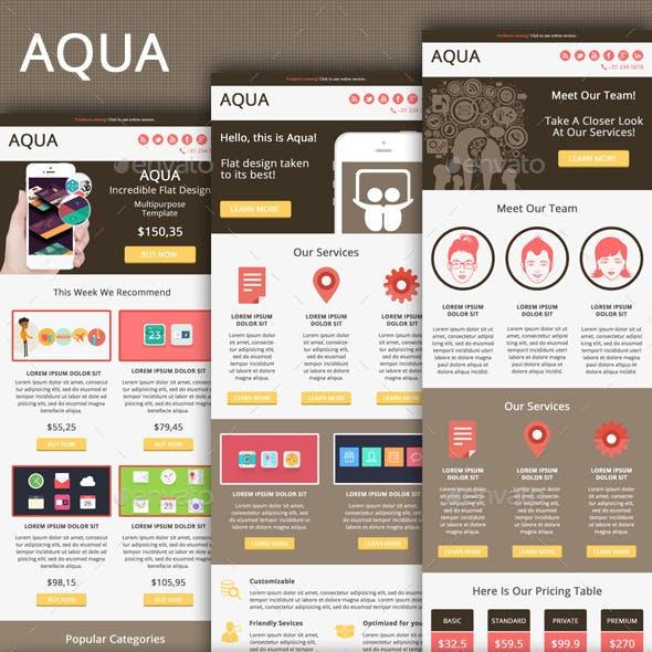 Aqua - Modern Clean Email Template