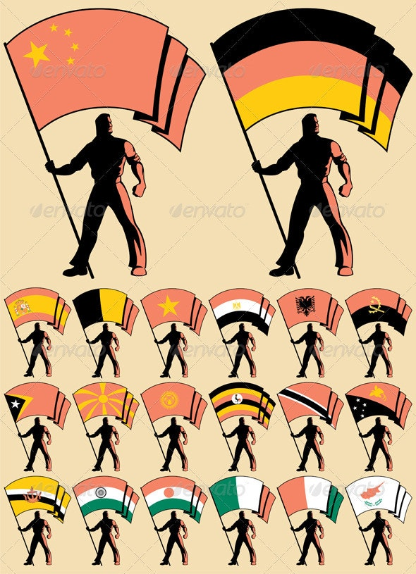 Flag Bearer 5 - Characters Vectors
