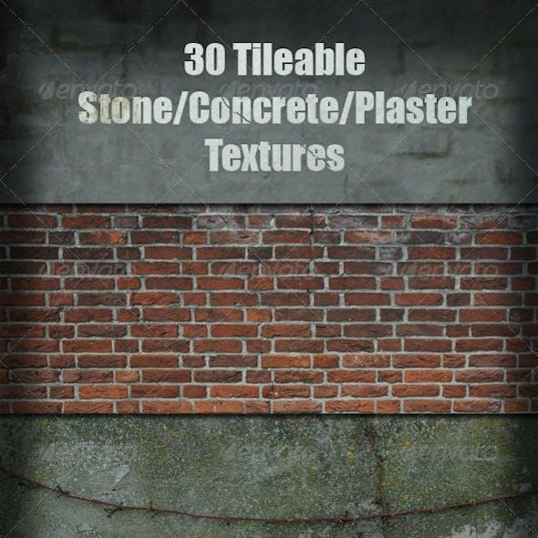 30 Tileable Stone/Concrete/Plaster Textures
