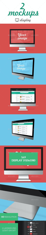 Flat Devices Mockups - Monitors Displays