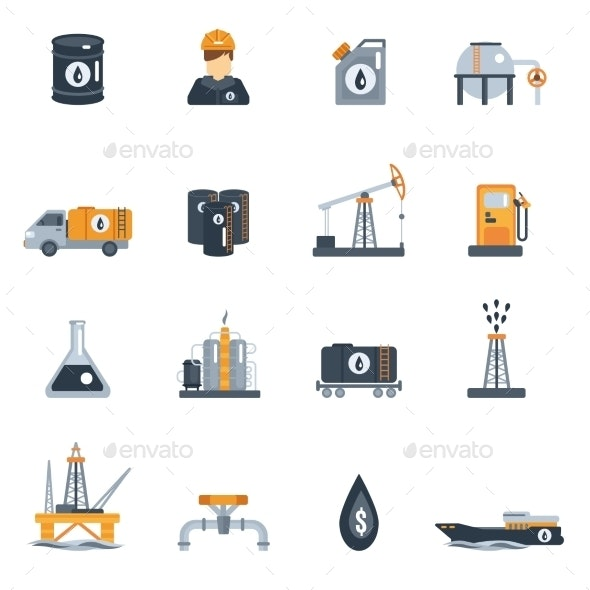Oil Industry Flat Icon - Miscellaneous Icons