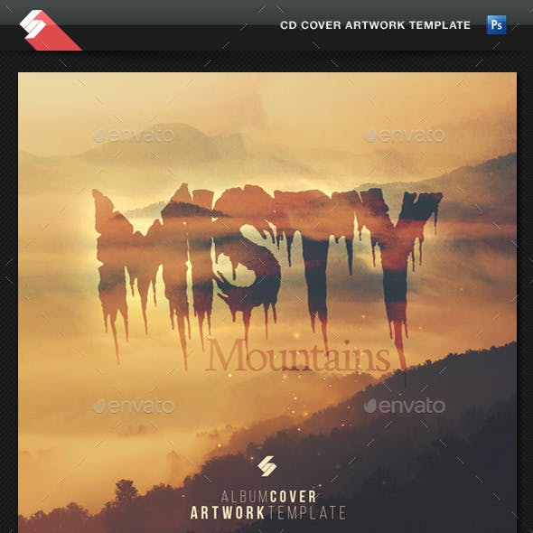 Misty Mountains - CD Cover Artwork Template