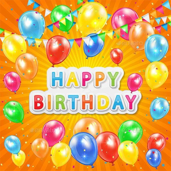 Birthday Background - Birthdays Seasons/Holidays