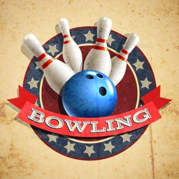 Bowling Emblem Background