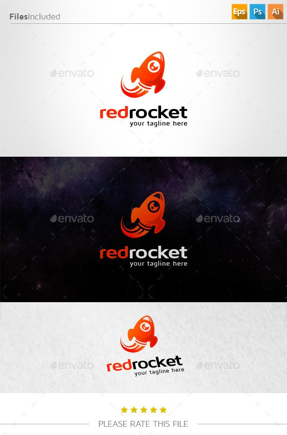 Rocket Logo - Vector Abstract