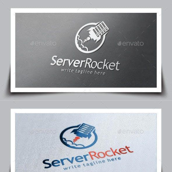 Server Rocket Logo Template