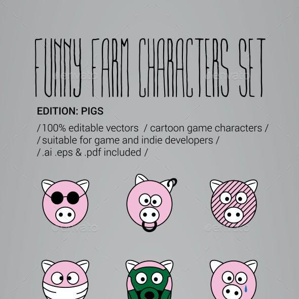 50 Cartoon Pig Characters