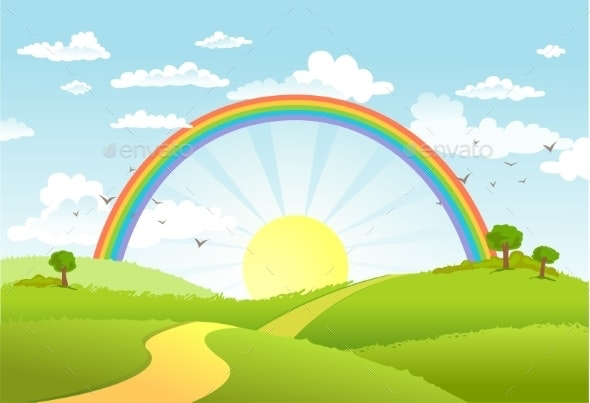 Rainbow Landscape - Landscapes Nature