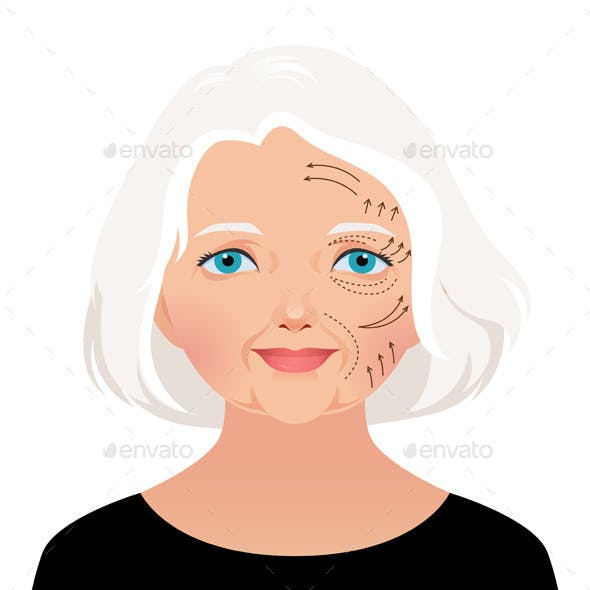 Elderly Woman Cosmetic