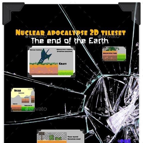 Nuclear apocalypse 2D tileset platform game PIXEL