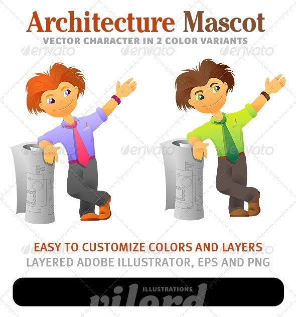 Architecture Mascot - People Characters