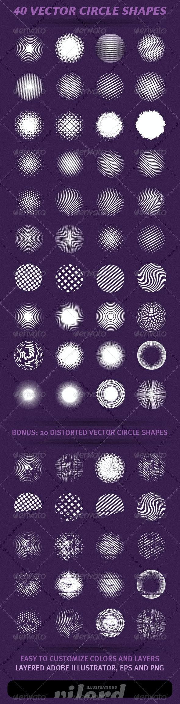 40 Vector Circle Shapes - Decorative Symbols Decorative