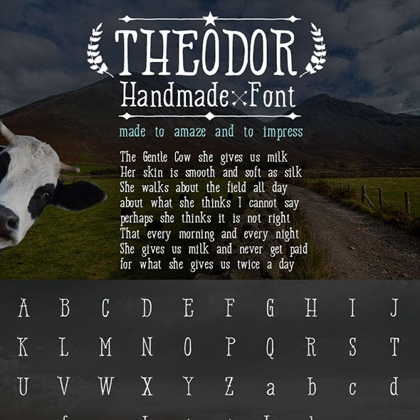 Handmade Font 'Theodor'