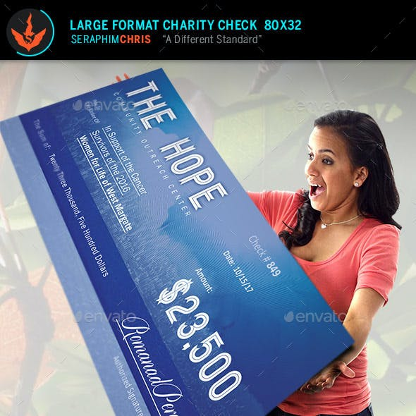 Hope Large Format Charity Check Template