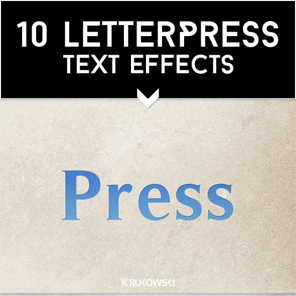 Letterpress Text Effects