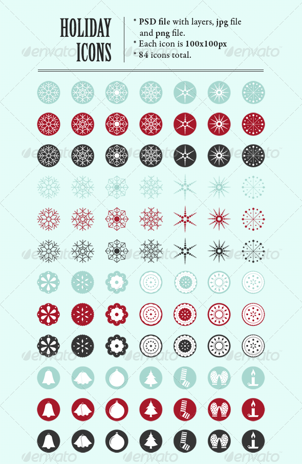 Holiday Icon set - Web Icons