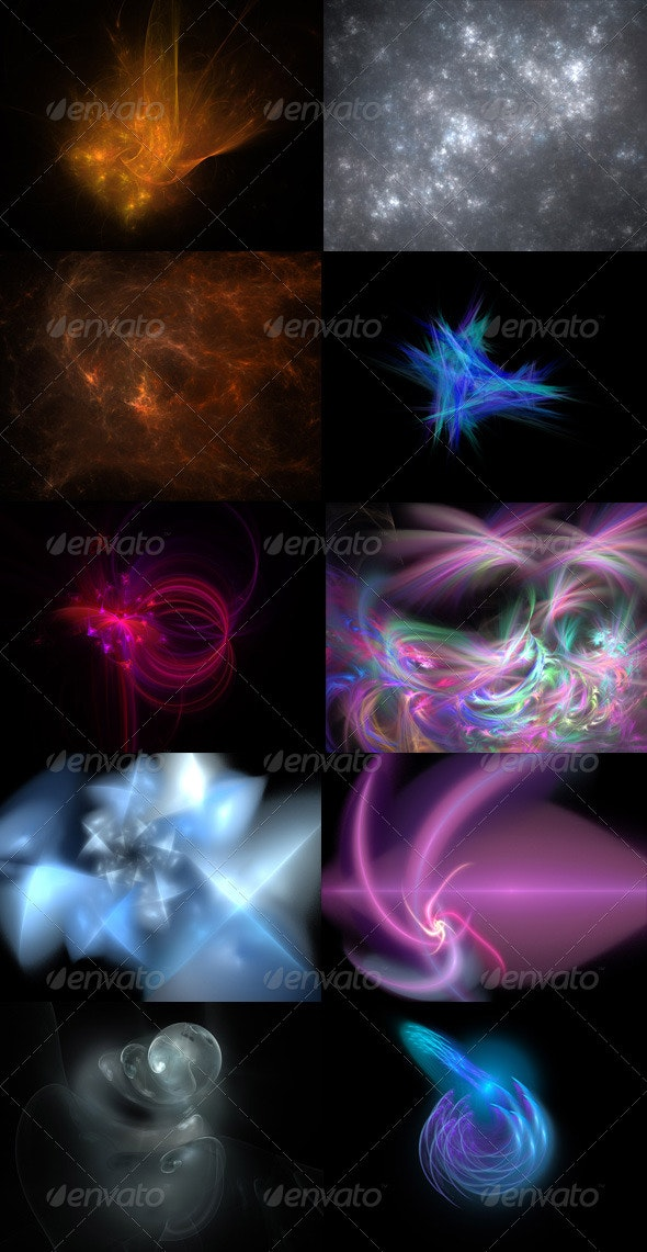 Fractals (10-pack) - Abstract Backgrounds