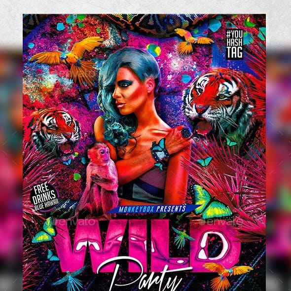 Flyer Wild Party Konnekt