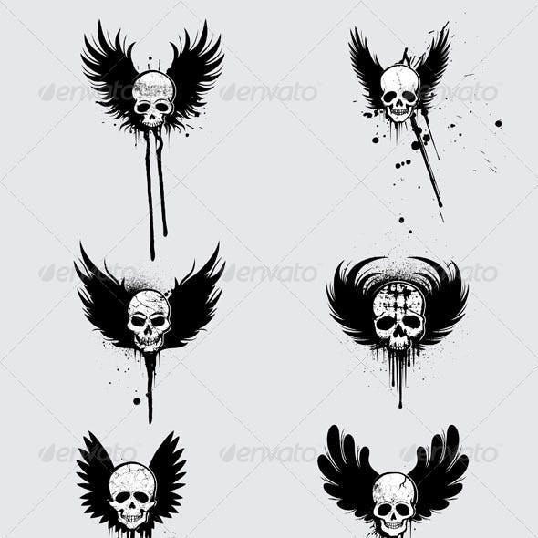 Grunge Skulls Designs