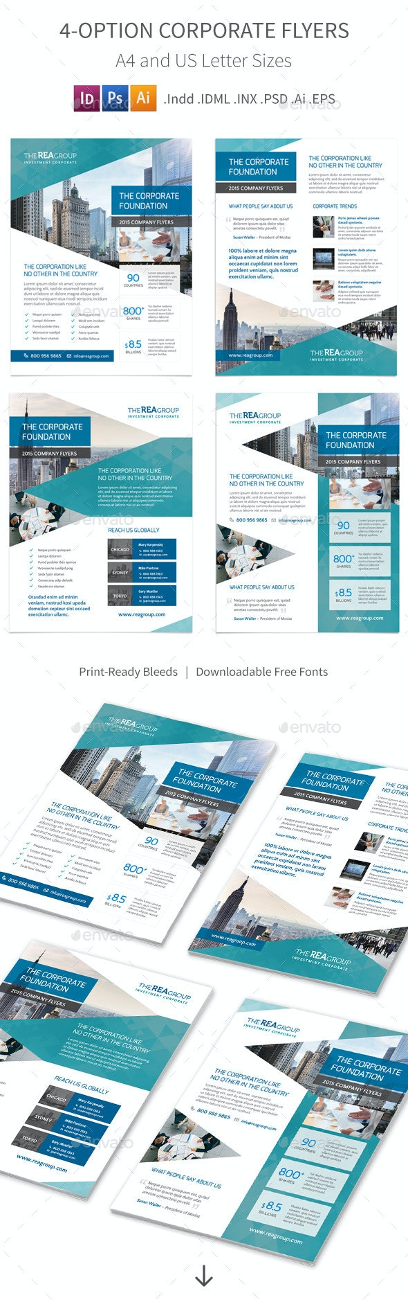 Corporate Flyers – 4 Options - Corporate Flyers