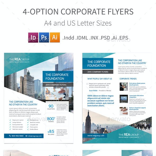 Corporate Flyers – 4 Options