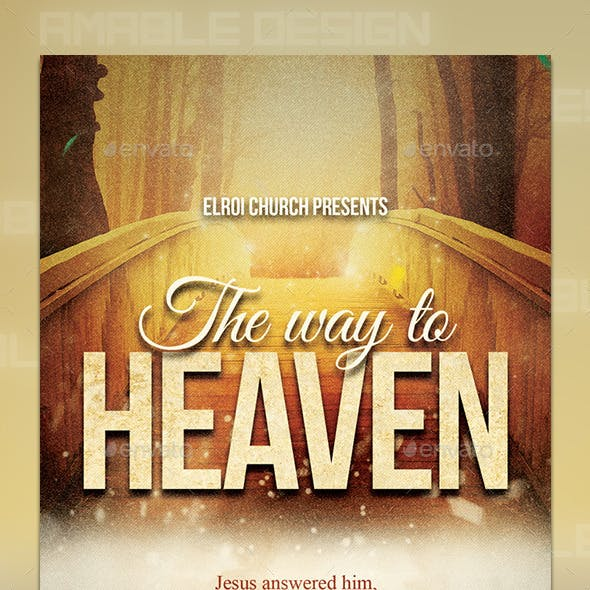 The Way to Heaven Church Flyer