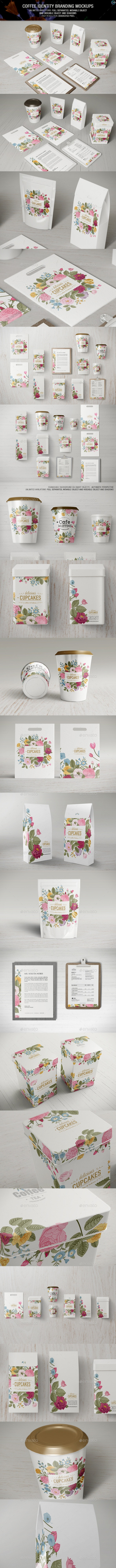 Coffee Identity Branding Mockups - Logo Product Mock-Ups