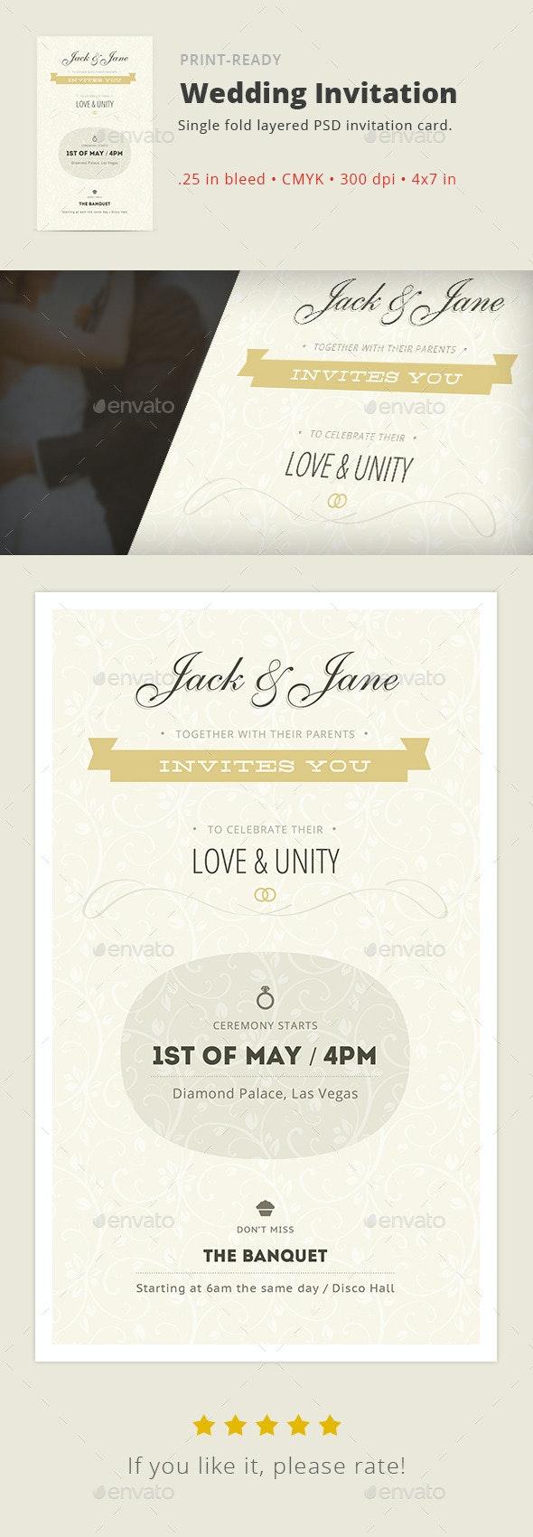 Love & Unity — Wedding Invitation Card - Cards & Invites Print Templates