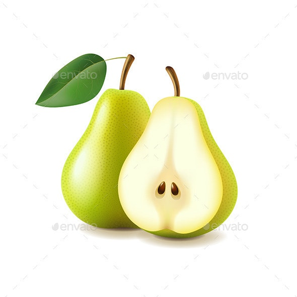 Pear and Slice - Food Objects