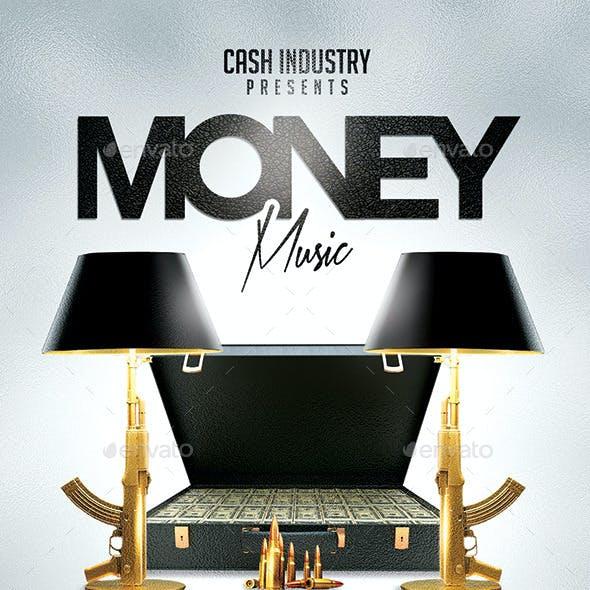Money Music | Hip-Hop Rap Night Flyer PSD Template