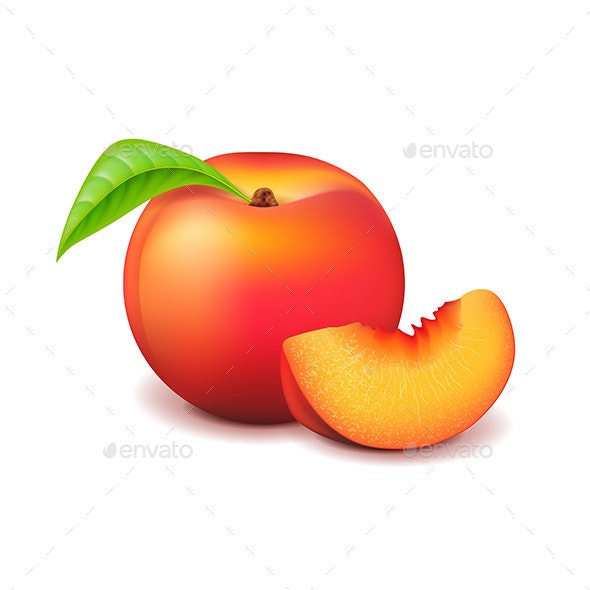 Peach and Slice - Food Objects