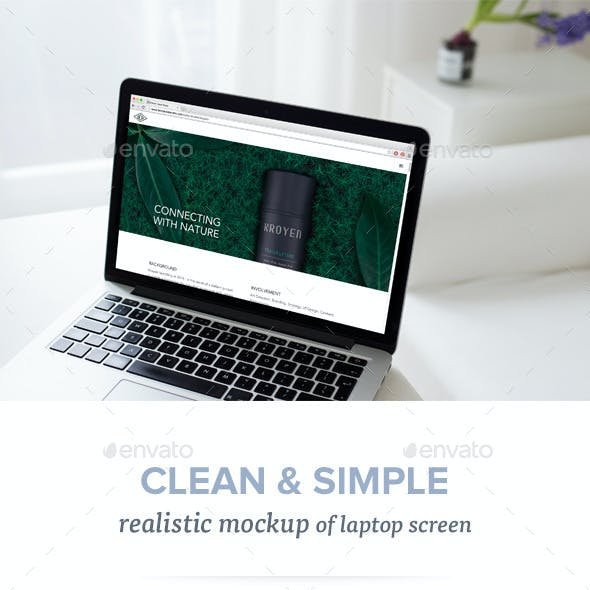 Realistic Laptop Mockup - 10 PSD Files