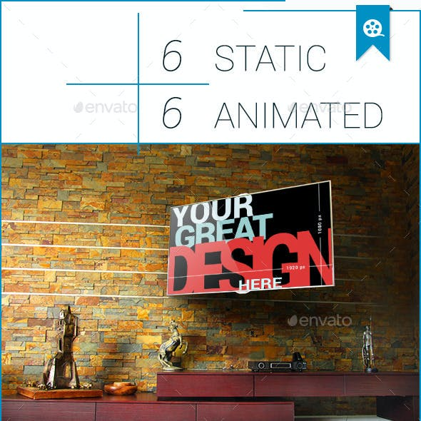 Animated TV Set Mock-Up Templates