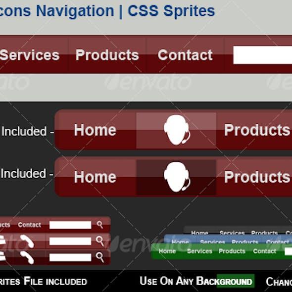 Menu with Icons Navigation | CSS Sprites