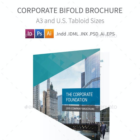 Corporate Bifold / Halffold Brochure