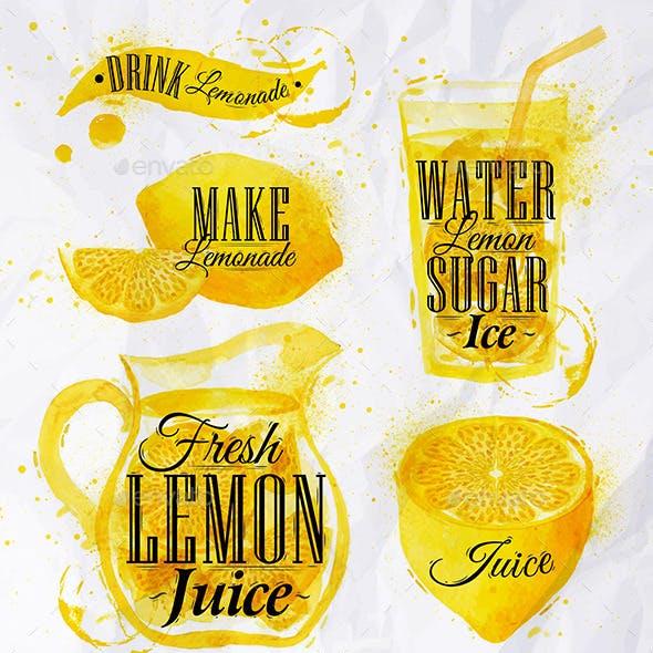 Watercolor Lemonade
