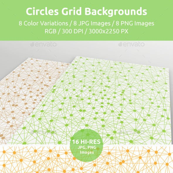 Circles Grid Backgrounds