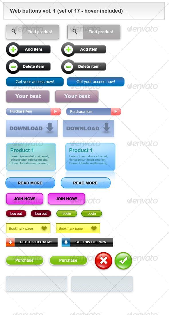 Modern 2.0 Web buttons.