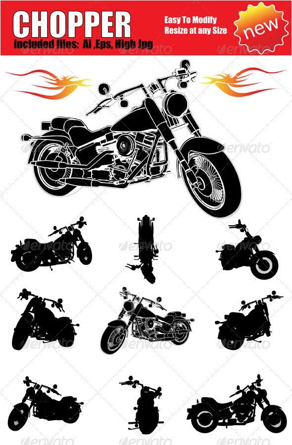 Vector Motorcycle Silhouette Set - Miscellaneous Vectors