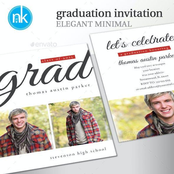Graduation Invitation Elegant Minimal