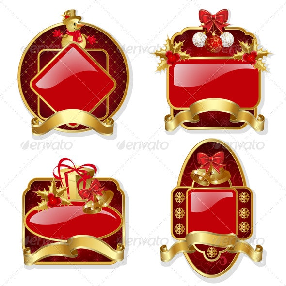 Set from Red Christmas Labels - Christmas Seasons/Holidays