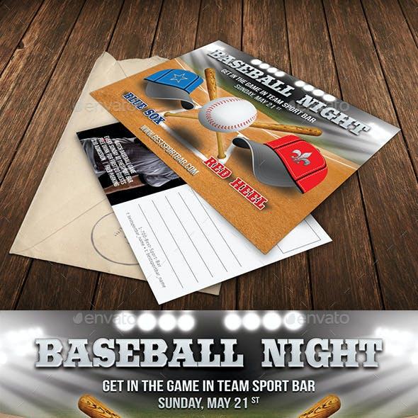 Baseball Night Invitation 33