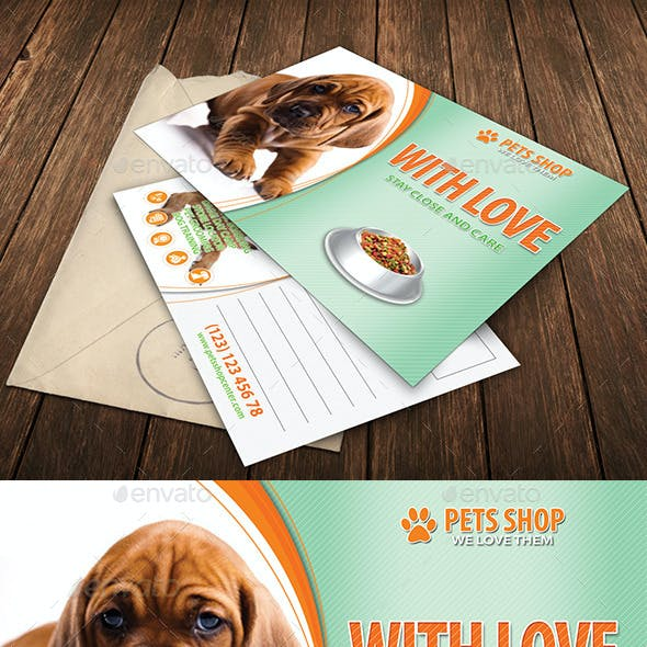 Pets Store Center Post Card 34