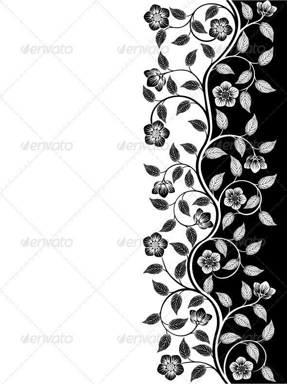Vintage floral background - Backgrounds Decorative