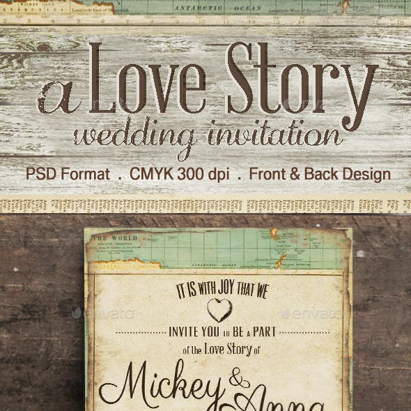 The Journey Wedding Invitation