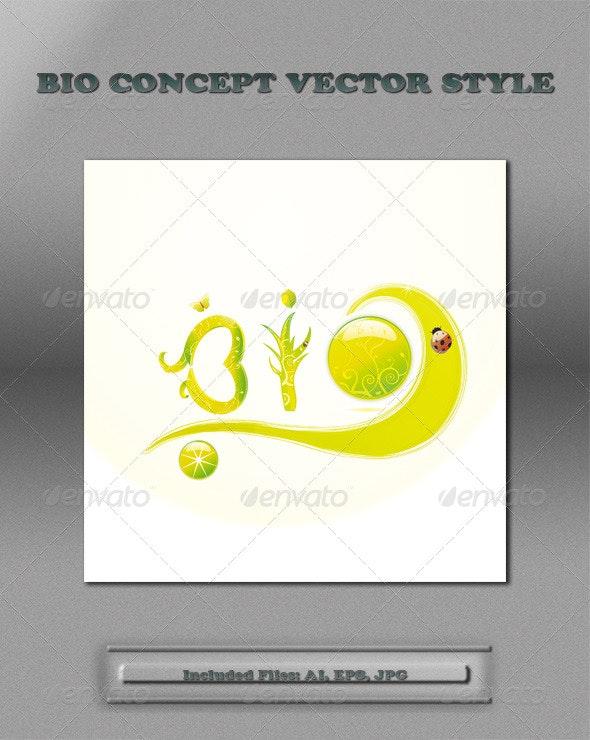 Environmental Concept Vector Style - Conceptual Vectors