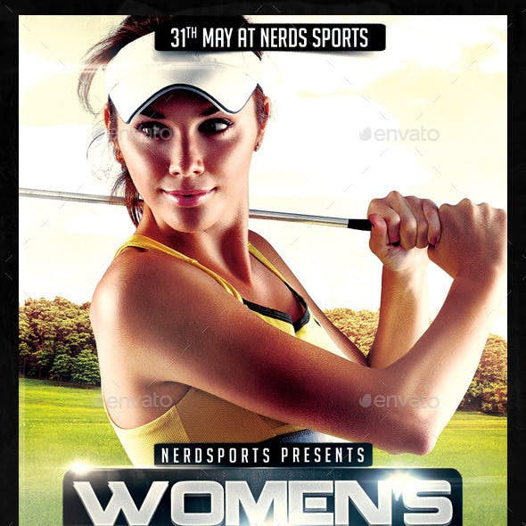Womens Golf Tournament Sports Flyer