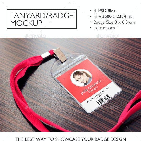 Lanyard/Badge Mockup