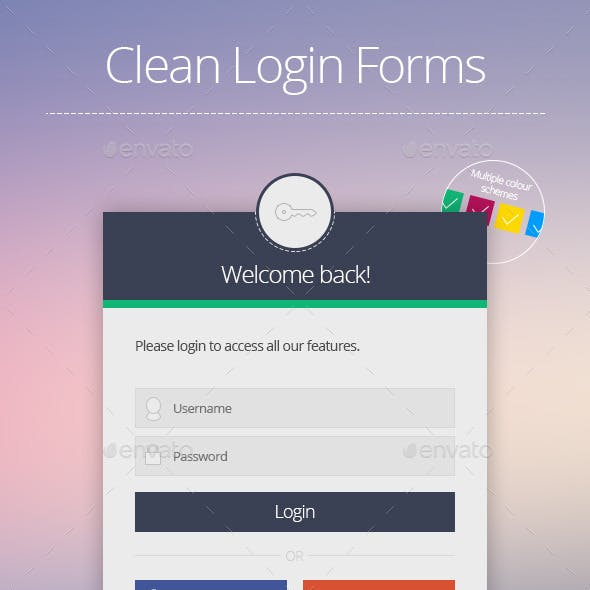 Clean Login Forms